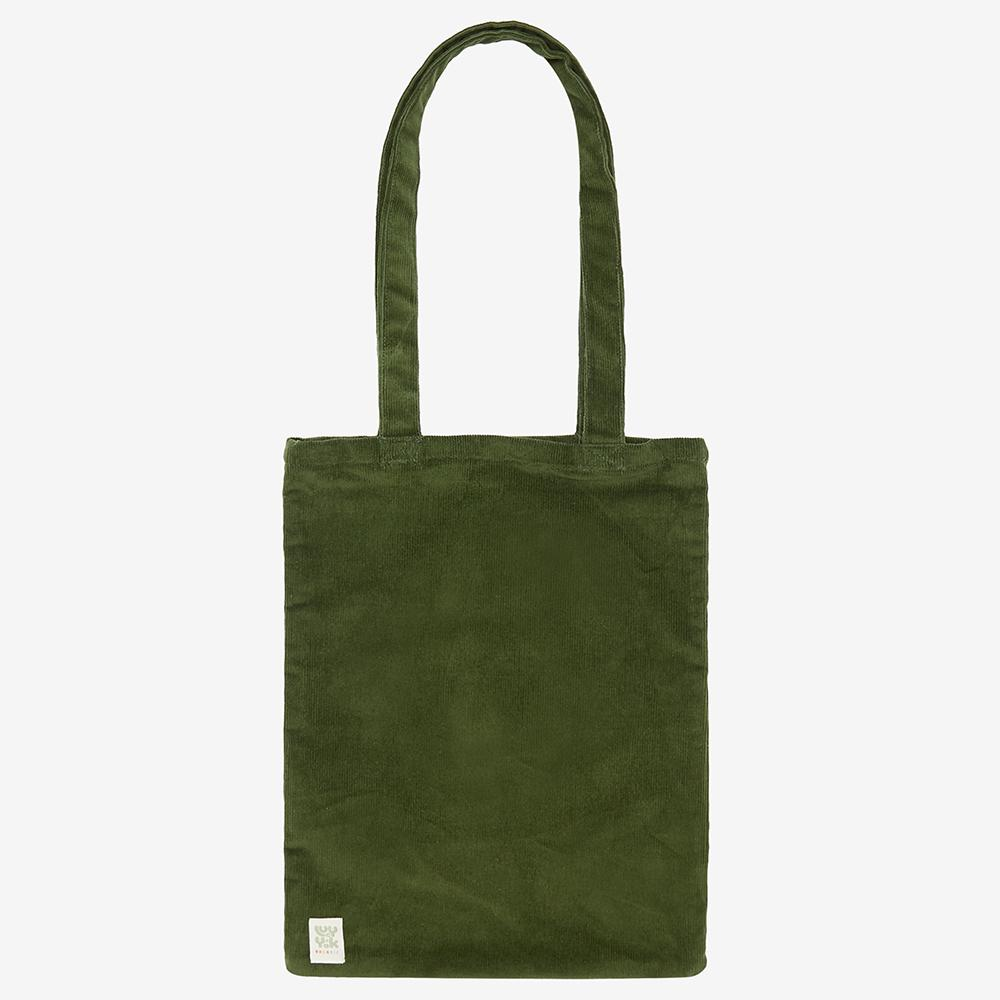 Lucy & Yak Bag ♻️'Idly' Recycled Corduroy Tote Bag in Moss Green ♻️