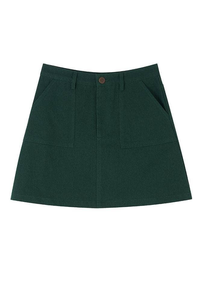 Lucy & Yak Skirt Serena Twill Skirt In Posy Green