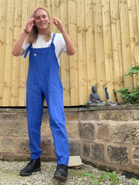 Lucy & Yak Cotton Dungarees Organic Umi Cotton Dungarees In Classic Blue