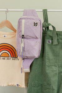 Lucy & Yak Bag Henley Oversized Bum Bag in Iris