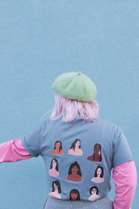 Lucy & Yak Tops 'Femme' Limited Edition Screen Printed T-Shirt By Octavia Bromell