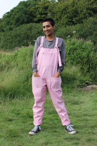 Lucy & Yak Dungarees 'Erro' Organic Heavy Cotton Twill Original Dungarees in Baby Pink