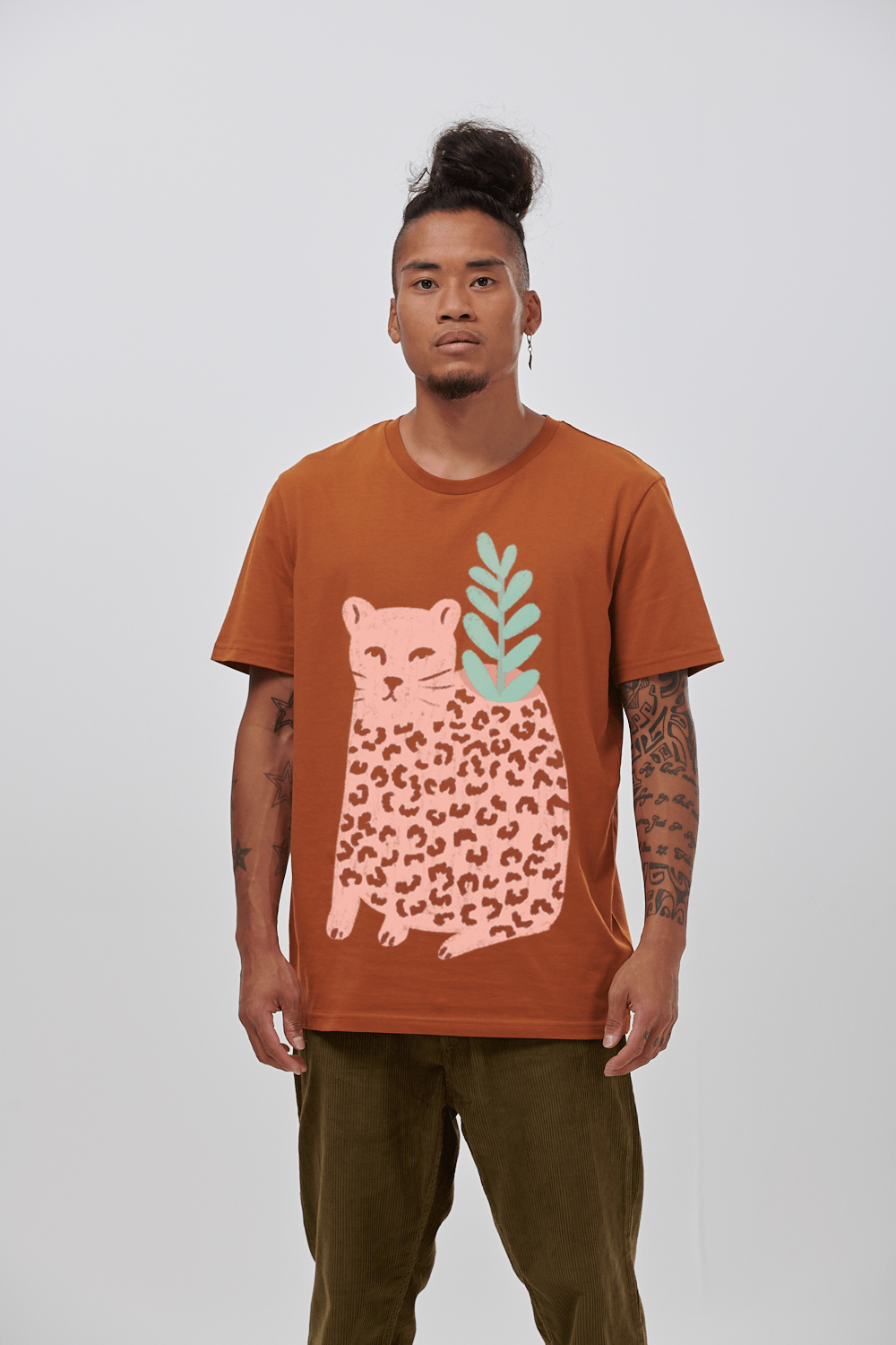 Lucy & Yak Tops 'Leo' Limited Edition Screen Printed T-Shirt By Octavia Bromell