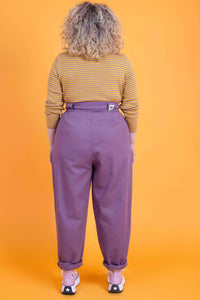 Lucy & Yak jeans Addison Organic Cotton High Waisted Jeans in Grape