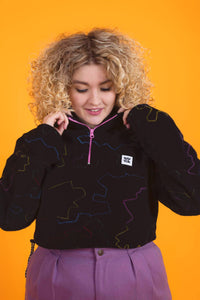 Lucy & Yak Fleeces Blake Recycled Cropped Fleece in Cara Print