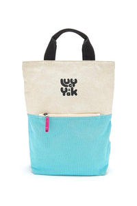 Lucy & Yak Bag 'Dylan' Organic Cotton Canvas Backpack In Pale Blue