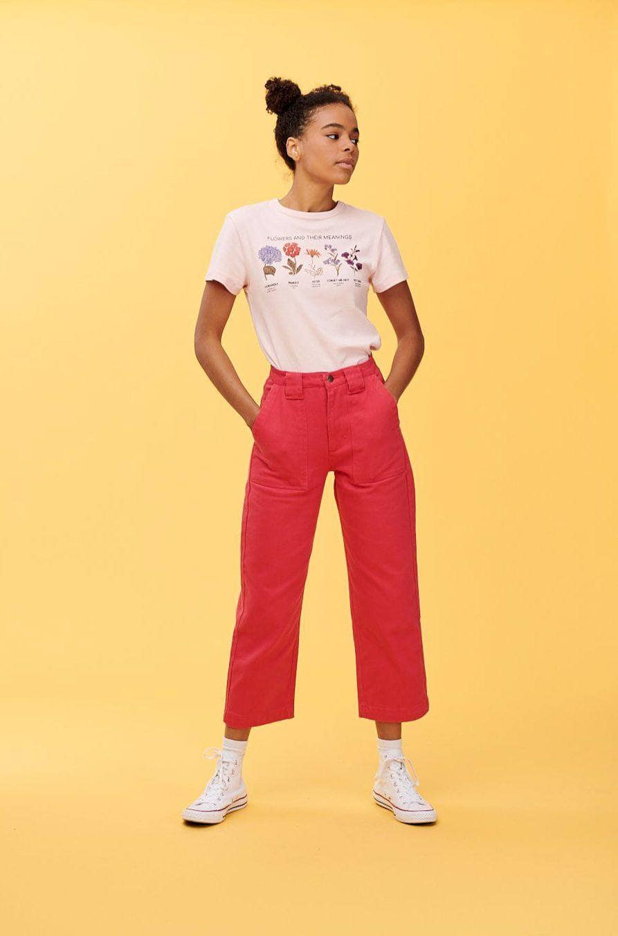 Lucy & Yak jeans 'Logan' High Rise Organic Jeans in Pink