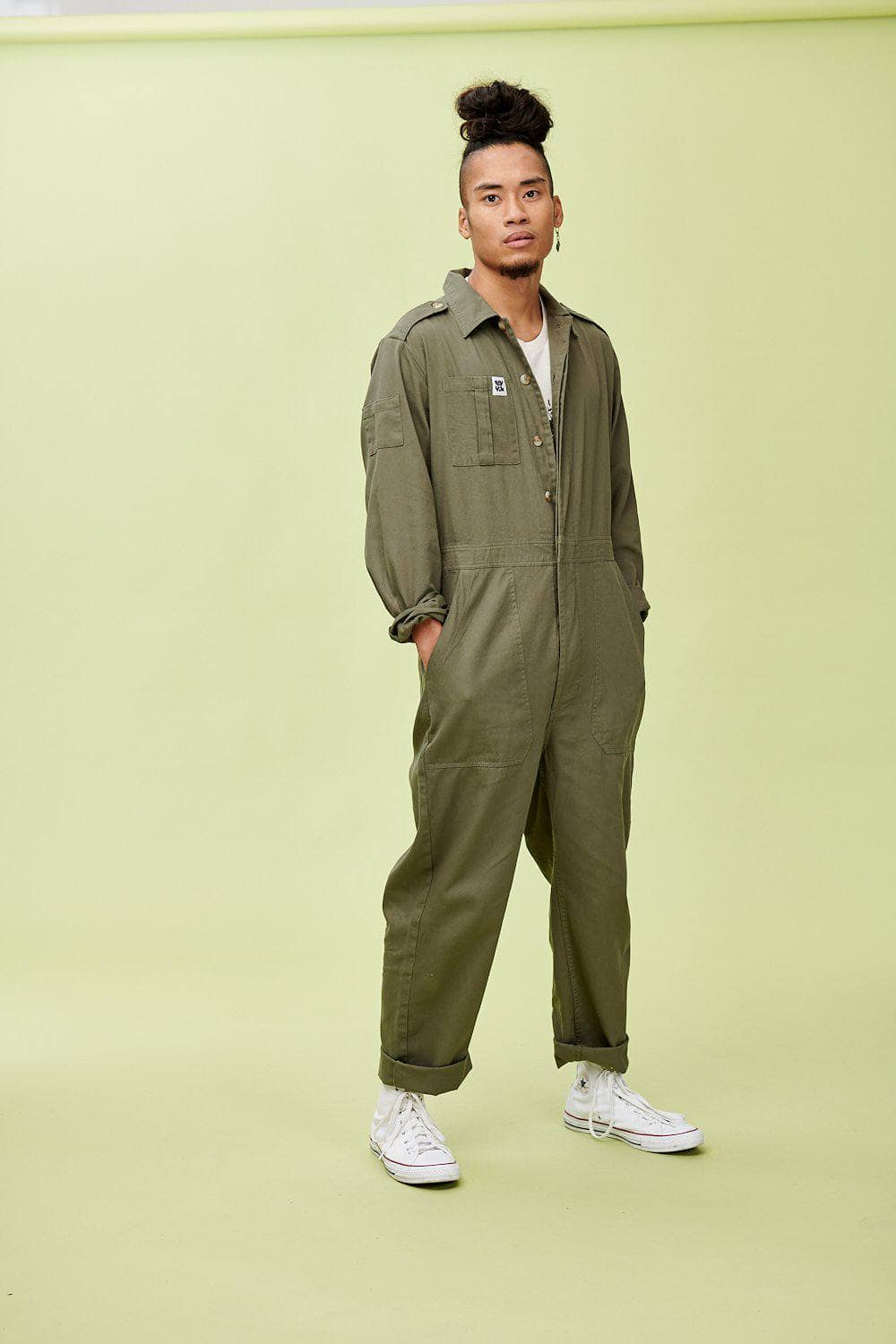 Lucy & Yak Boilersuit 'Carmen' Boilersuit in Khaki Green