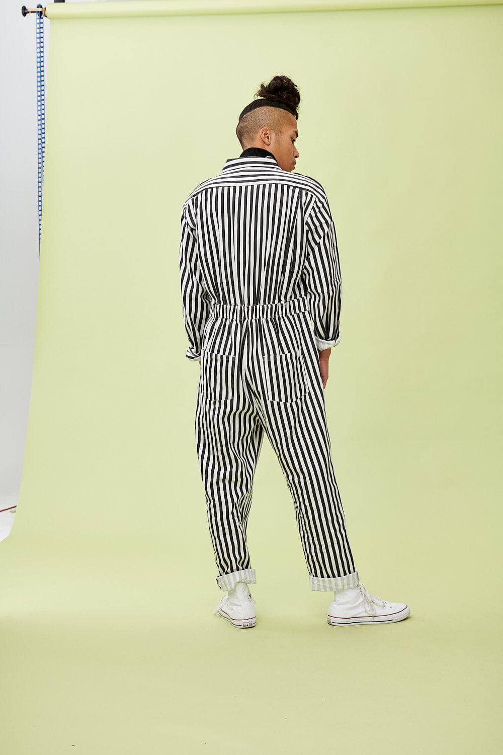 Lucy & Yak Boilersuit 'Carmen' Boilersuit in Black and White Stripe