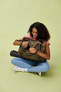 Lucy & Yak Bag 'Dakota' Yoga Bag In Khaki Green