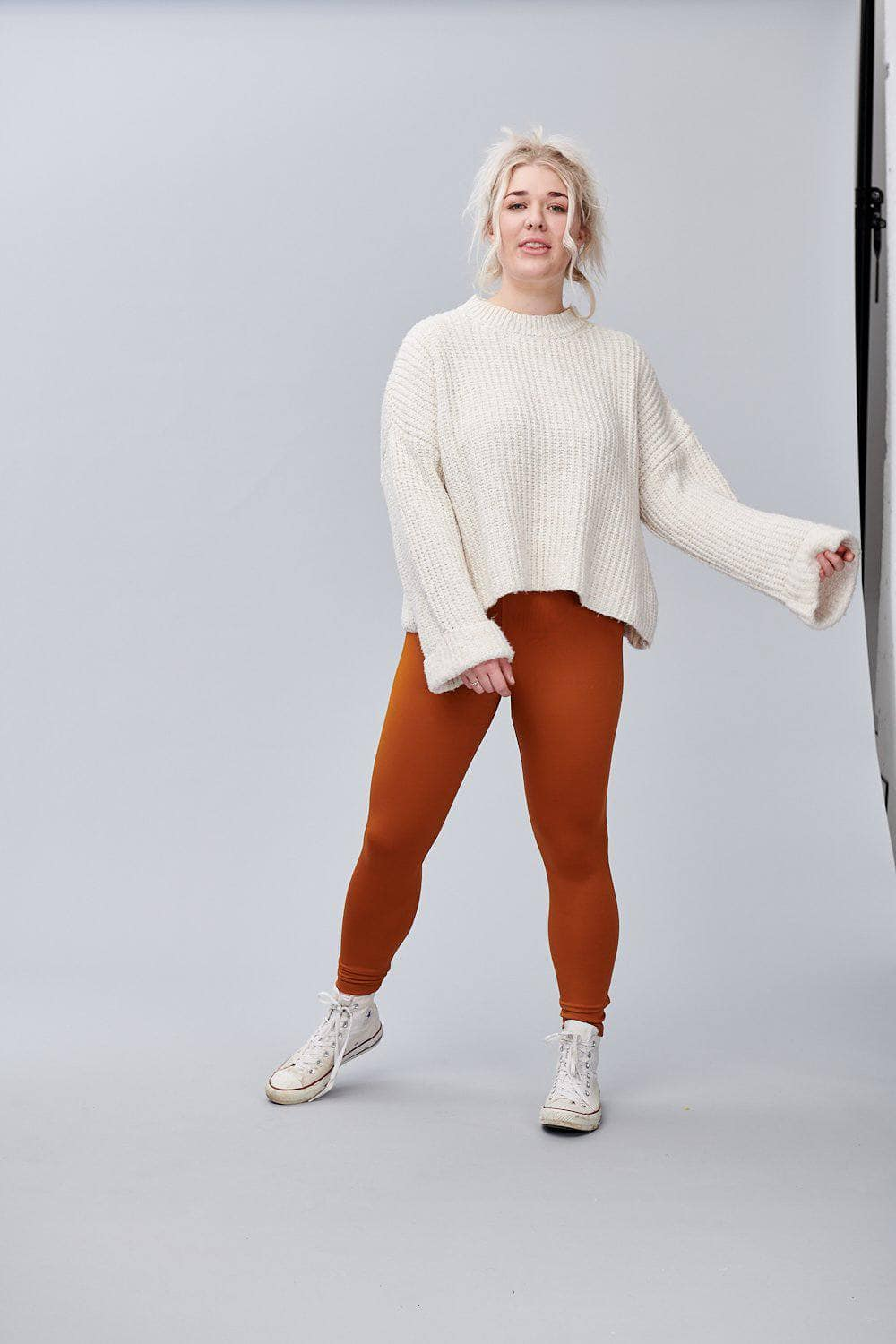 Lucy & Yak Leggings 'Codie' High Waisted Leggings in Rust