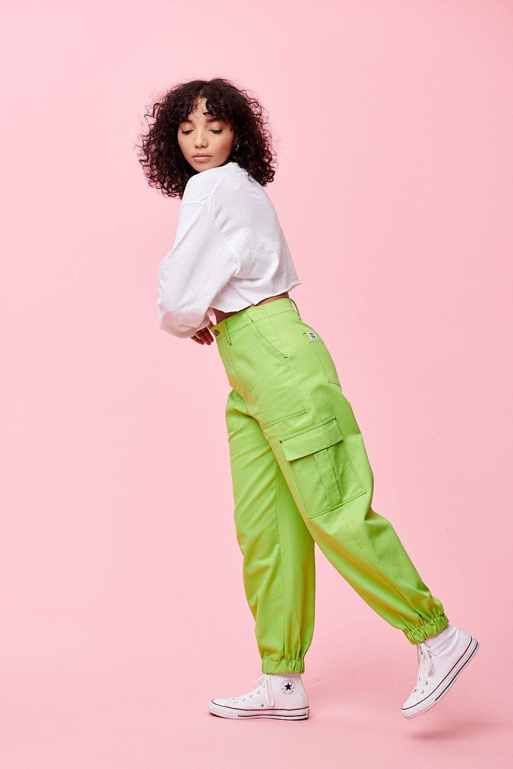 Lucy & Yak trousers Made In Britain - Kirkby Cargo Pants In Lime