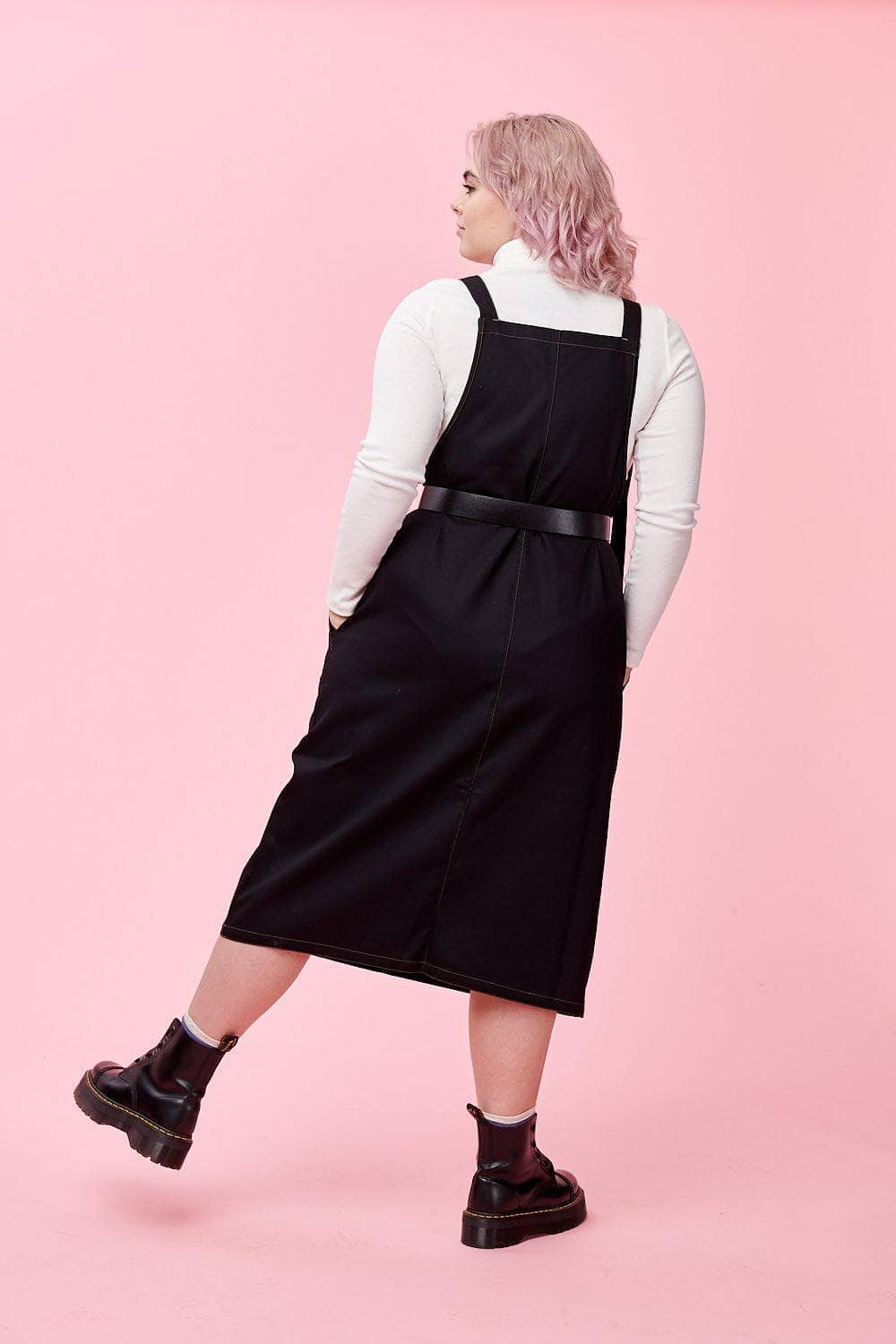 Lucy & Yak Dress Made In Britain - Leigh Midi Dress In Black