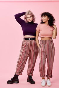 Lucy & Yak trousers 'Kia' Jacquard Trousers in Pink