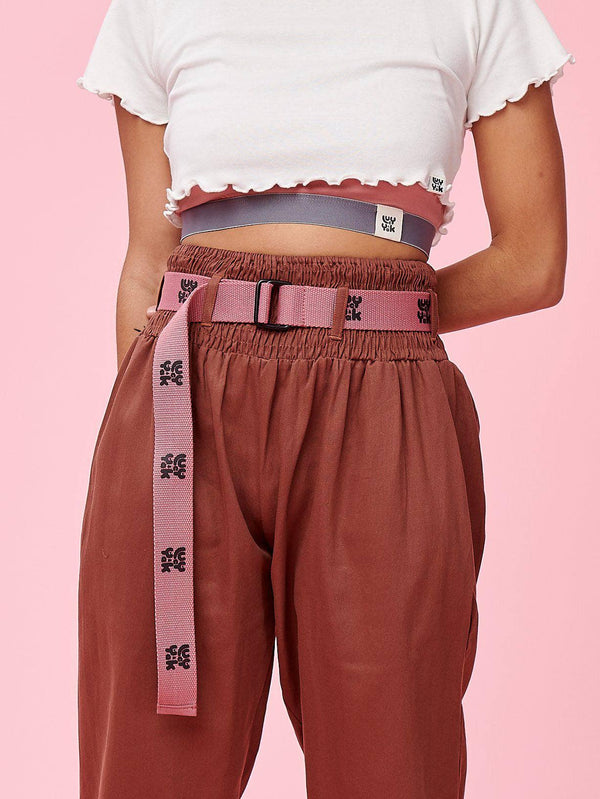 Lucy & Yak Belt 'Flynn' Woven Belt In Ash Pink