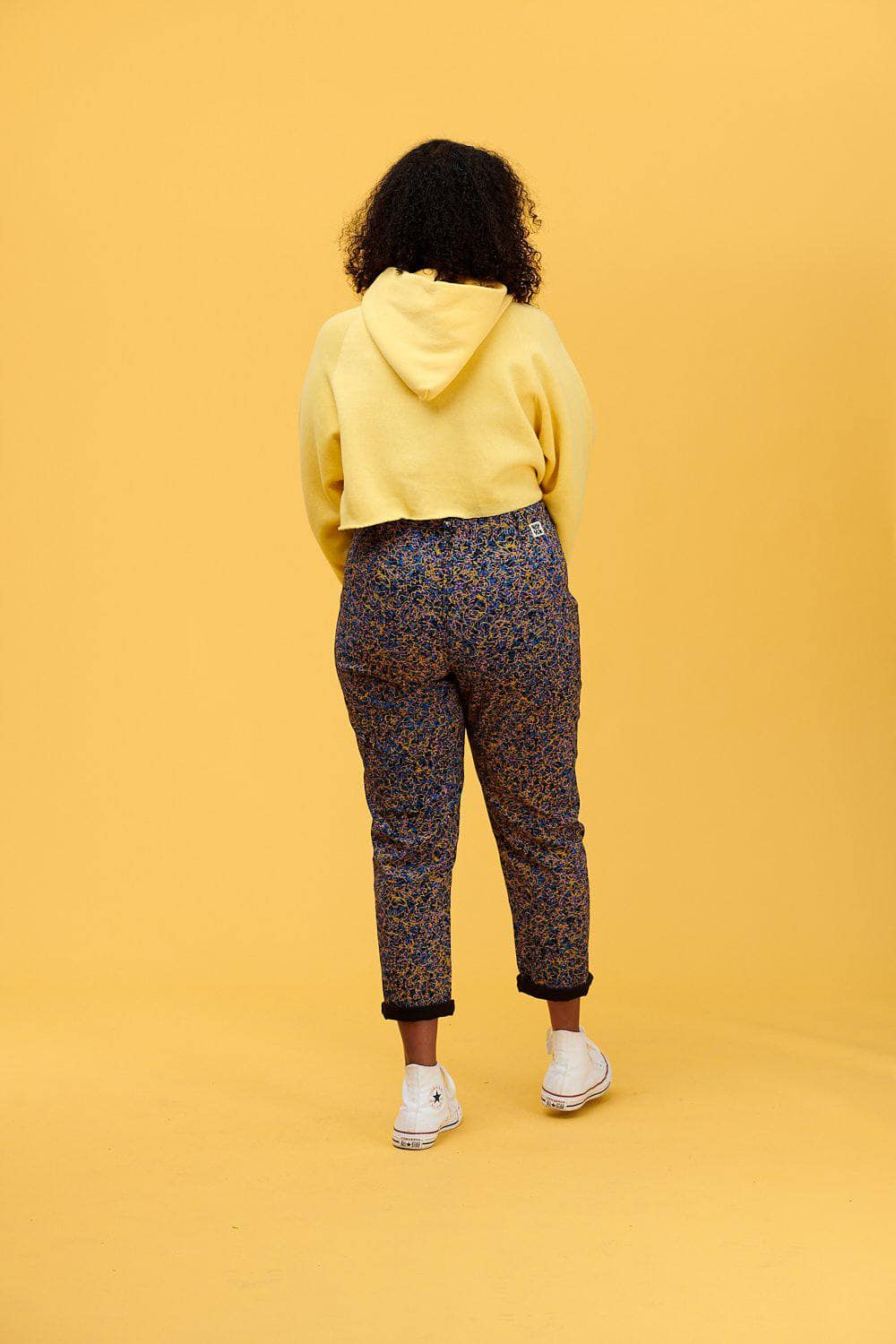 Lucy & Yak trousers 'Camden' High Waisted Trousers In Albaquirky Print in Organic Cotton