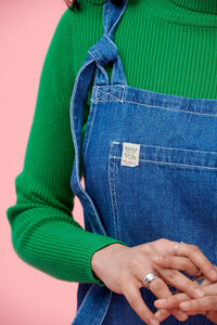 Lucy & Yak Dress 'Organic Mini Pini' Soft Denim Dress in Mid-Wash
