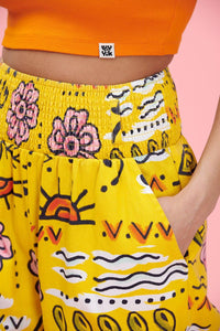 Lucy & Yak trousers Kia Trousers In Tilora Yellow Print