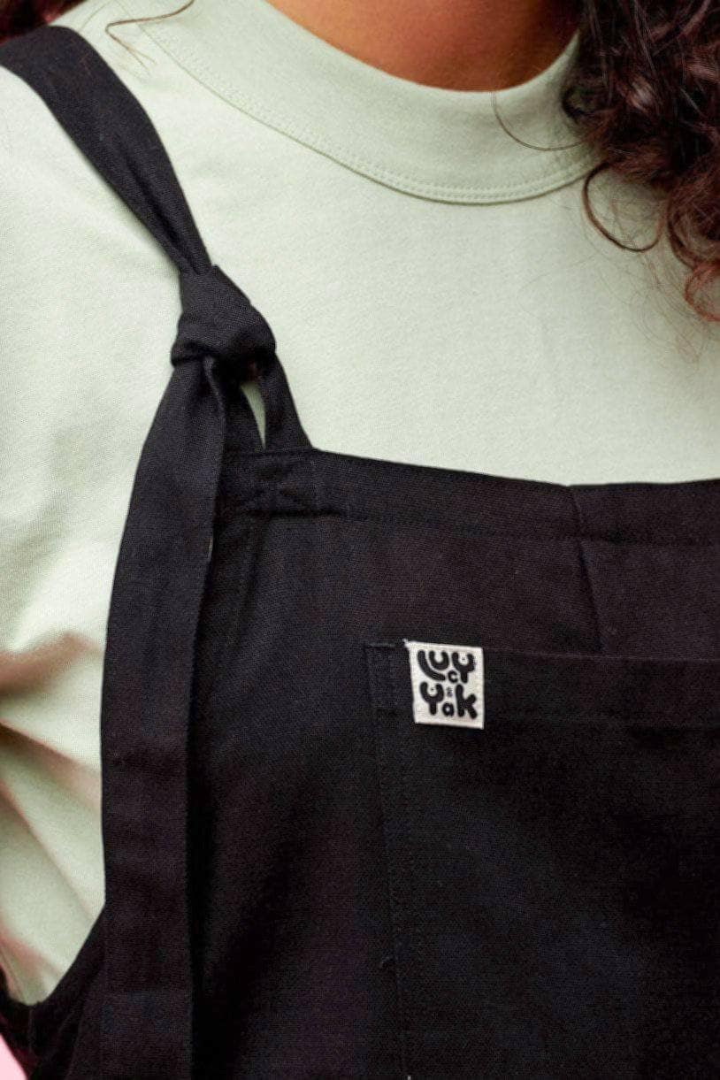 Lucy & Yak Cotton Dungarees Umi Organic Cotton Dungarees in Black - New Fabric