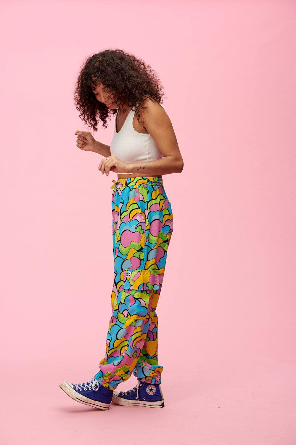 Lucy & Yak trousers Mera Tencel Cargo Pants In Multi Print