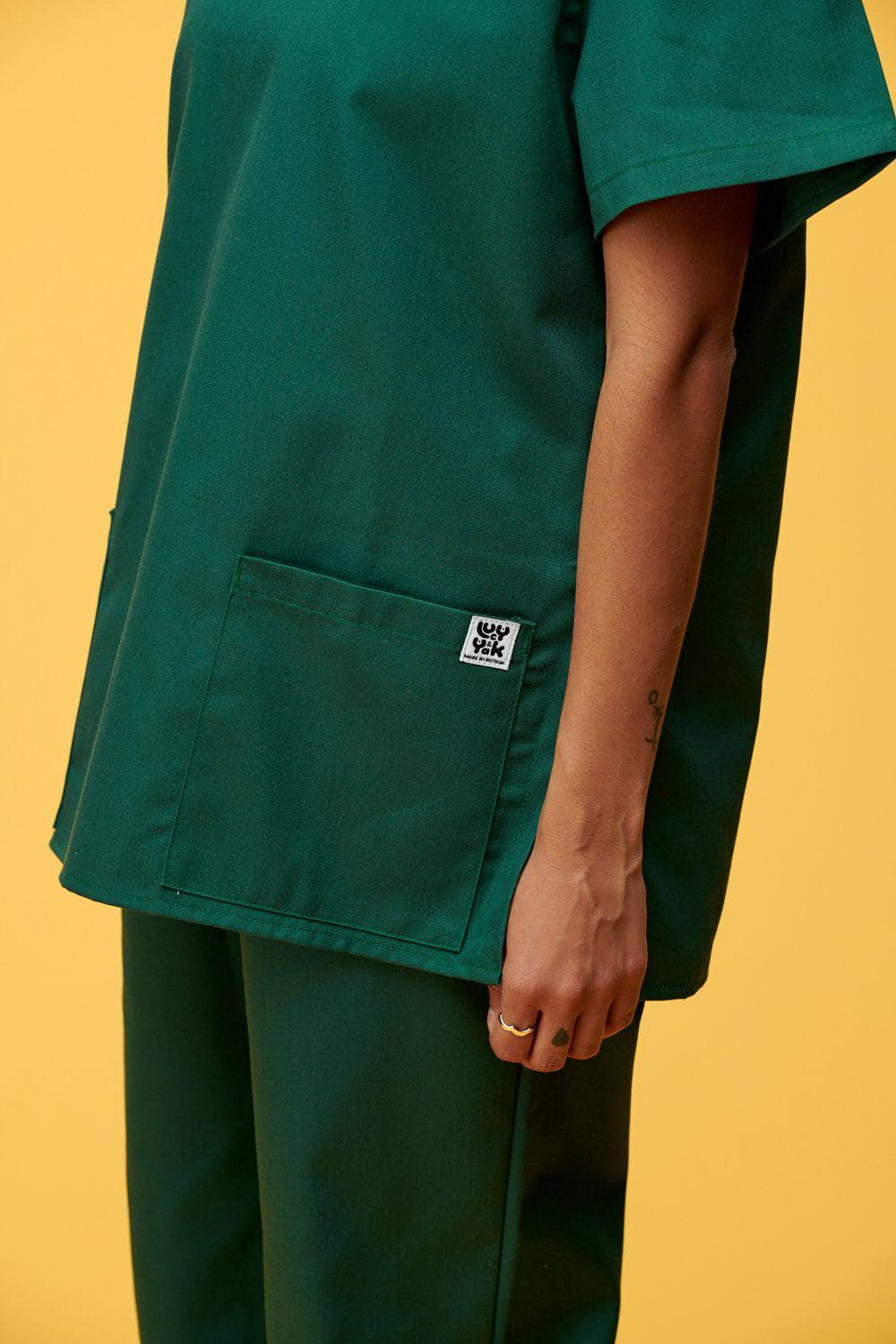 Lucy & Yak Tops Scrubs Top In Forest Green (correct price needs to added)