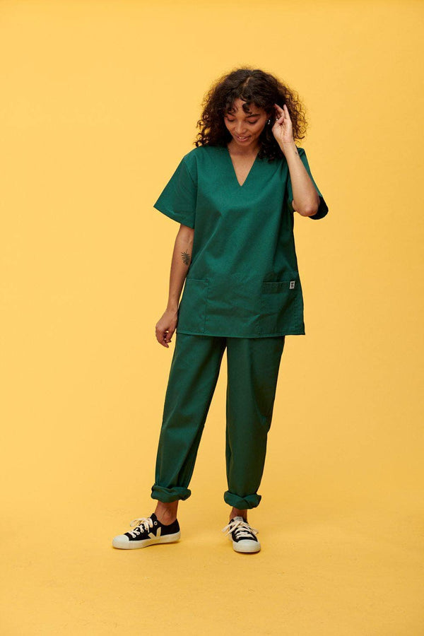 Lucy & Yak trousers Scrubs Trousers In Forest Green (correct price needs adding)