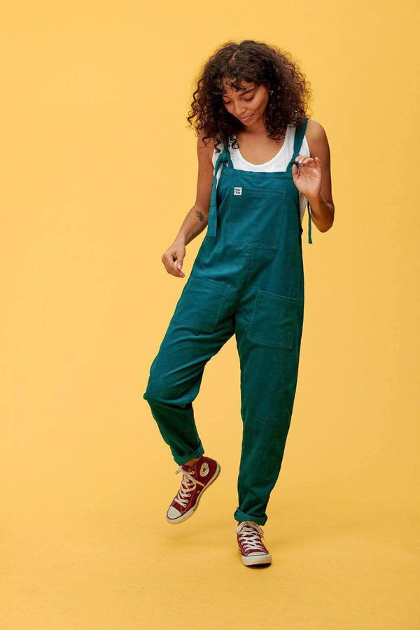 Lucy & Yak Organic Dungarees 'The Organic Original' Corduroy Dungarees in Teal