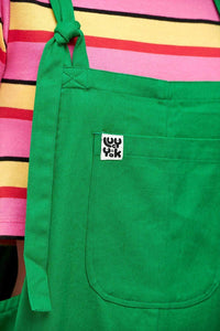 Lucy & Yak Dungarees 'Luna' Organic Cotton Twill Cropped Dungarees in Green