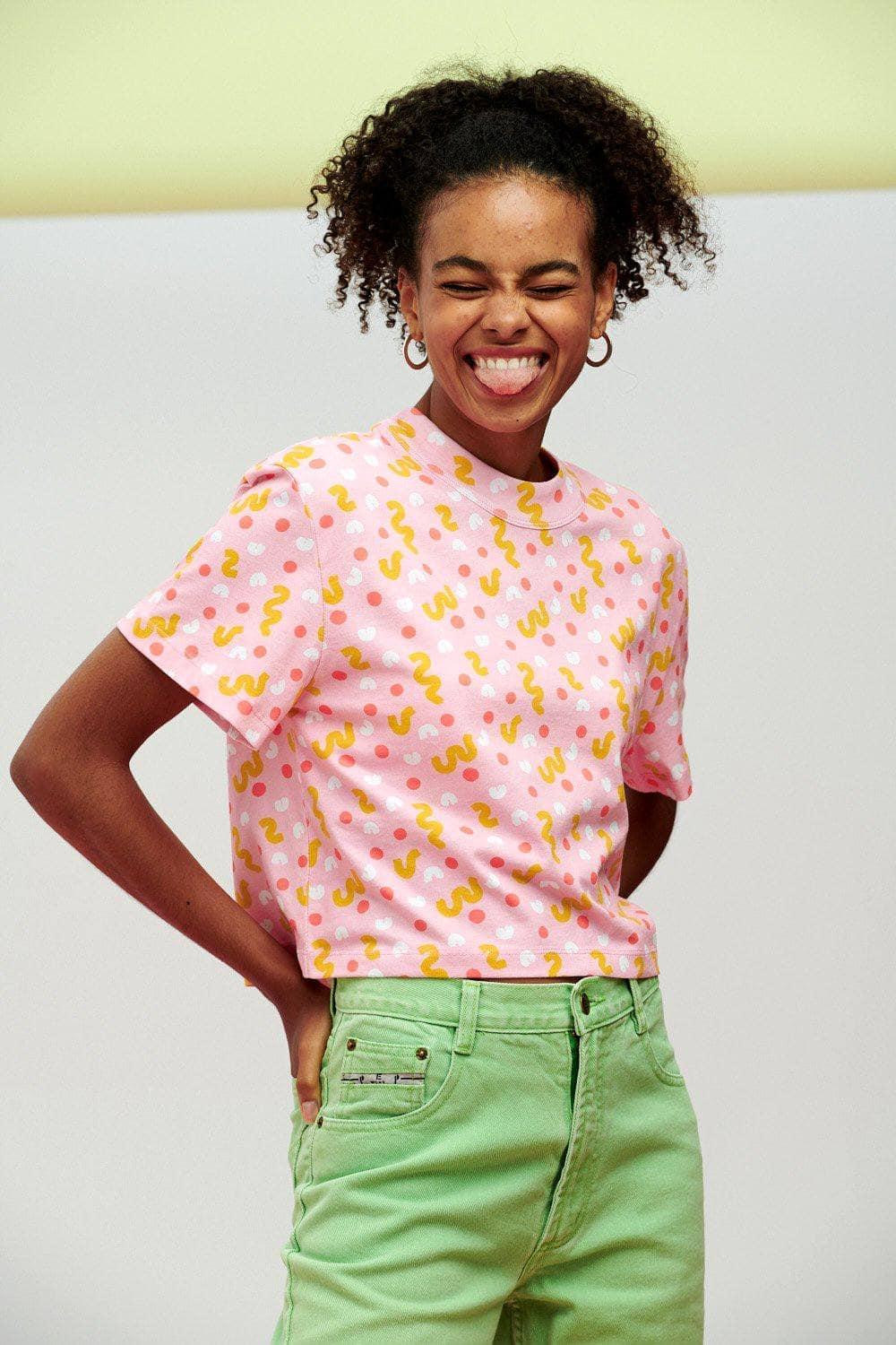 Lucy & Yak Tops Zola Tee In Robyn Print