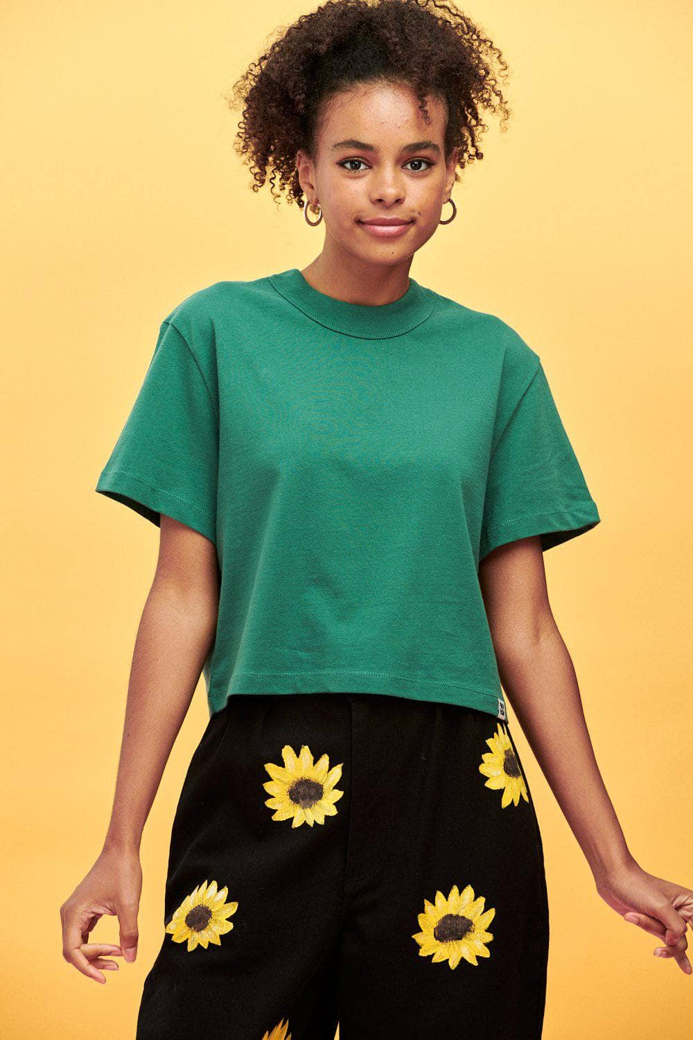 Lucy & Yak Tops Zola Tee In Posy Green
