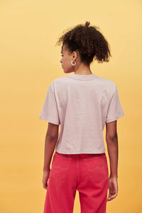 Lucy & Yak Tops Zola Tee Longer Length Boxy Cut Organic Cotton Tee in Deauville Mauve Purple