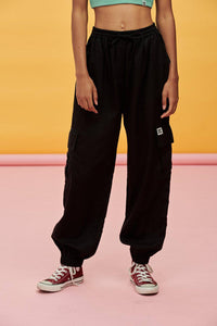 Lucy & Yak trousers Mera Tencel Cargo Pants In Black
