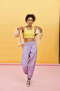 Lucy & Yak trousers Alexa Organic Cotton Trousers in Lilac