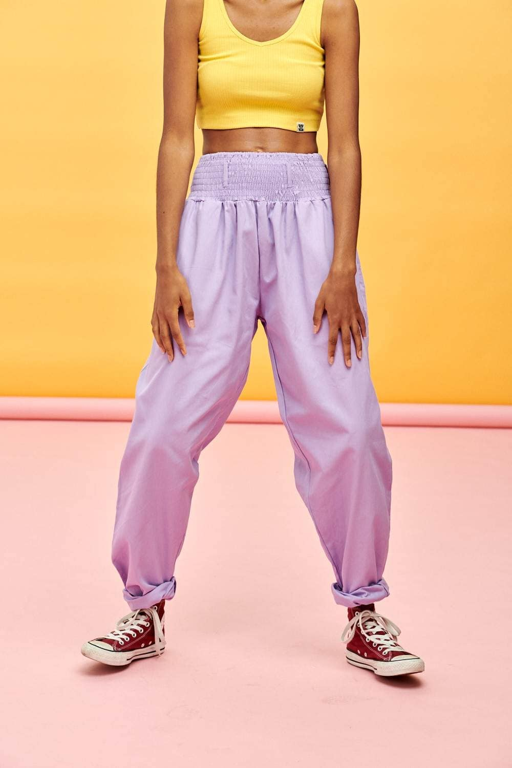 Lucy & Yak trousers Limited Edition Alexa Organic Cotton Trousers in Lilac