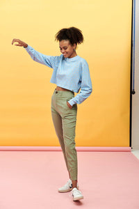 Lucy & Yak trousers Camden Trousers In Sage