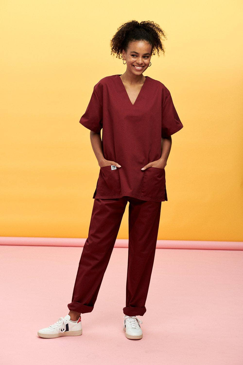 Lucy & Yak trousers Scrubs Trousers In Maroon (correct price needs adding)