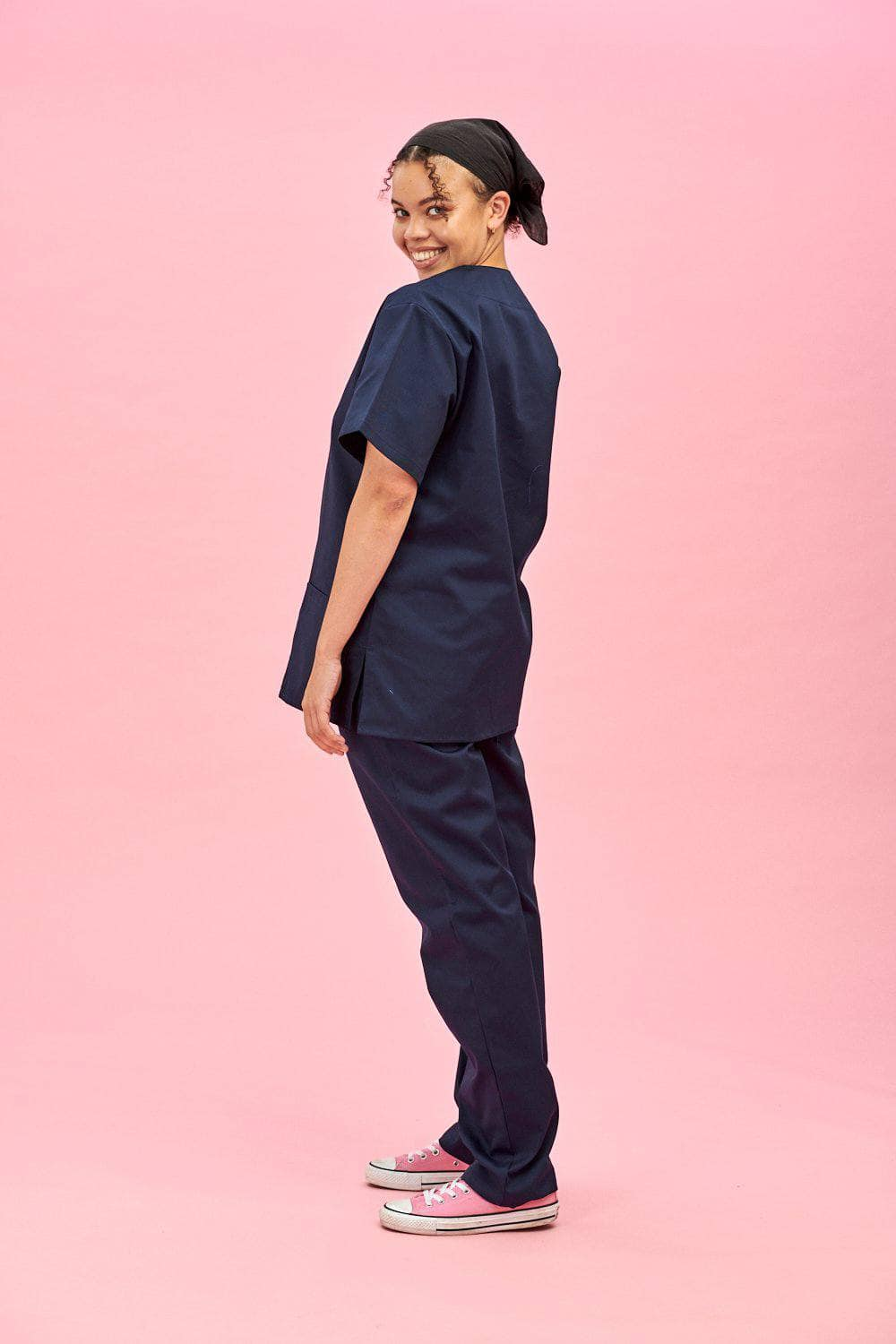 Lucy & Yak Tops Scrubs Tops In Navy (correct price needs to be added)