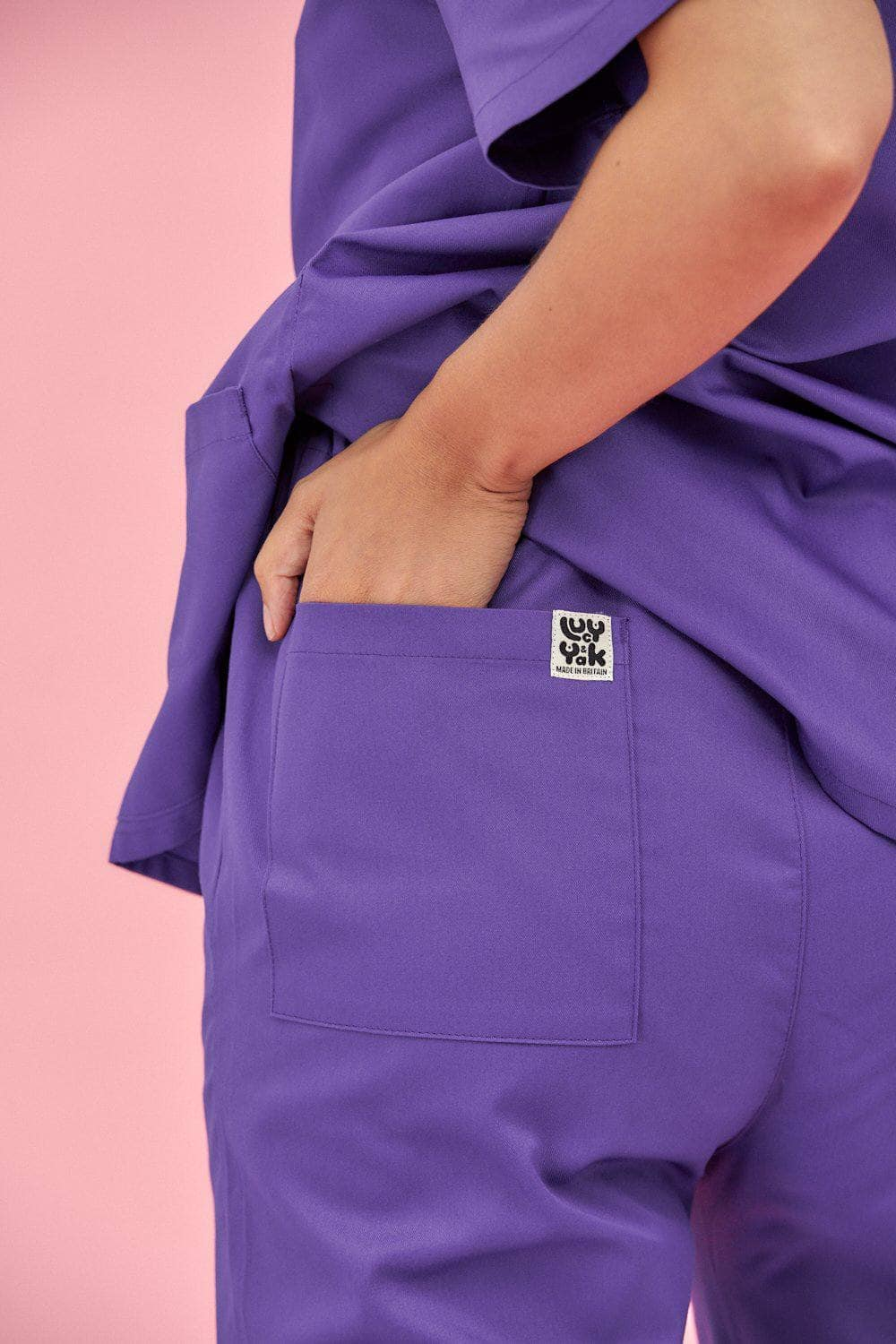 Lucy & Yak trousers Scrubs Trousers In Purple (correct price needs adding)