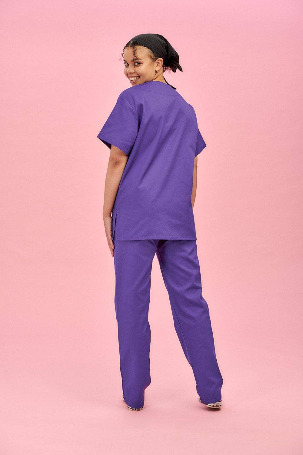 Lucy & Yak Tops Scrubs Top In Purple (correct price needs adding)