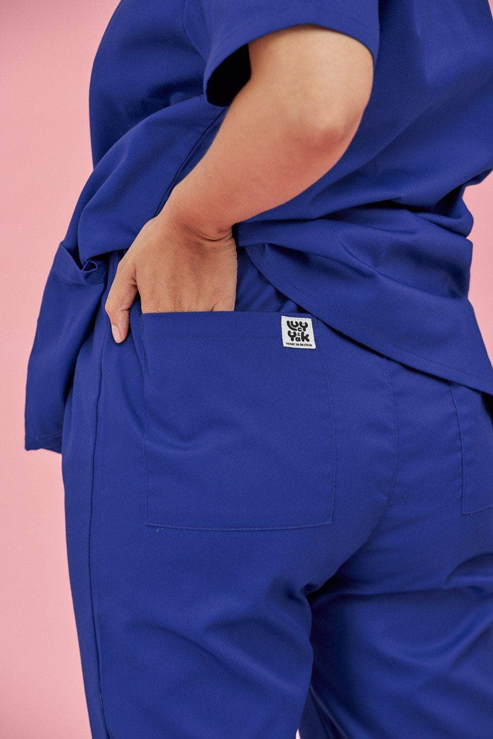 Lucy & Yak trousers Scrubs Trousers In Royal Blue (correct prices need adding)