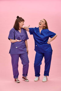 Lucy & Yak Tops Scrubs Top In Royal Blue (correct price needs adding)