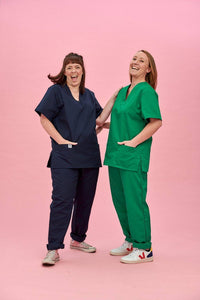 Lucy & Yak Tops Scrubs Top in Emerald Green (correct price needs adding)