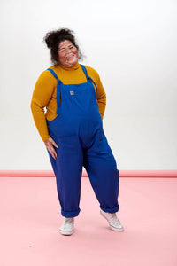 Lucy & Yak Cotton Dungarees 'Umi' Organic Cotton Dungarees in Classic Blue - New Fabric