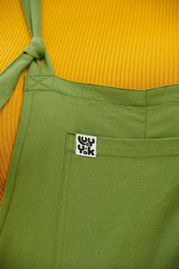 Lucy & Yak Cotton Dungarees 'Umi' Organic Cotton Dungarees in Olive Green - New Fabric