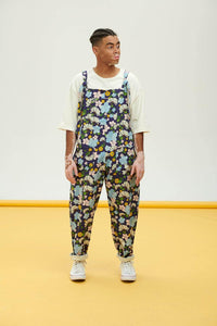Lucy & Yak Dungarees Flora Limited Edition Organic Cotton Dungarees in Blue Flower Print