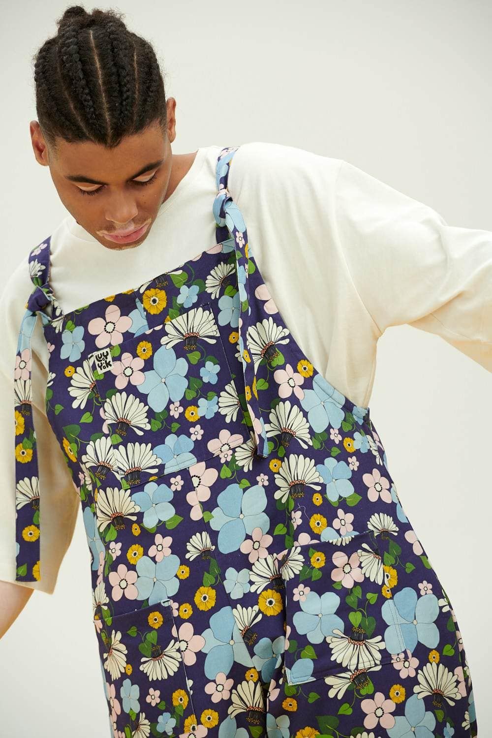 Lucy & Yak Dungarees NEEDS NAME Limited Edition Organic Cotton Dungarees in Retro Floral Print