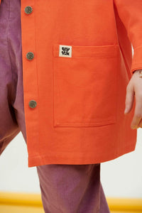Lucy & Yak Jacket Olly Organic Cotton Twill Jacket in Living Coral