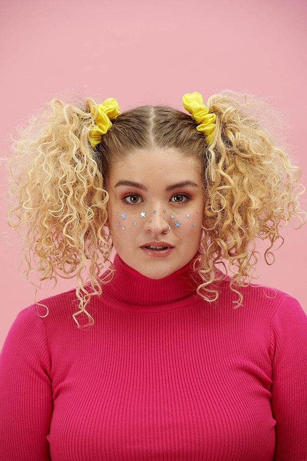 Lucy & Yak accessories 'Carter' Hair Scrunchie in Cotton Twill Yellow