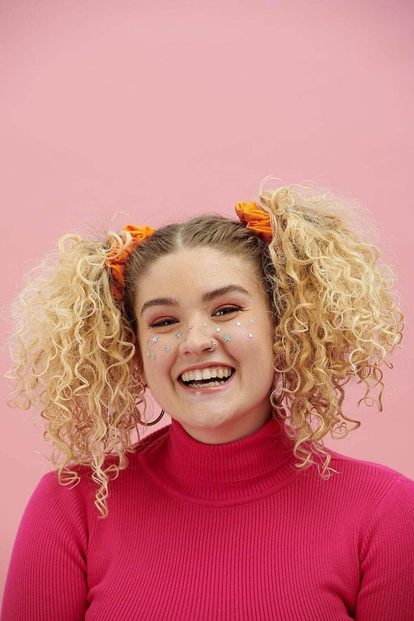 Lucy & Yak accessories 'Carter' Hair Scrunchie in Cotton Twill Orange