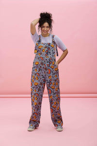 Lucy & Yak Dungarees Easton Organic Heavy Twill Dungarees In Aubin Print